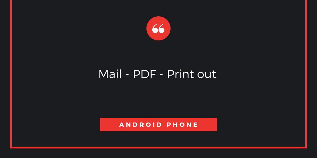 Androidで受信したメールのテキストをPDFに書き出ししてコンビニのコピー機からプリントする方法