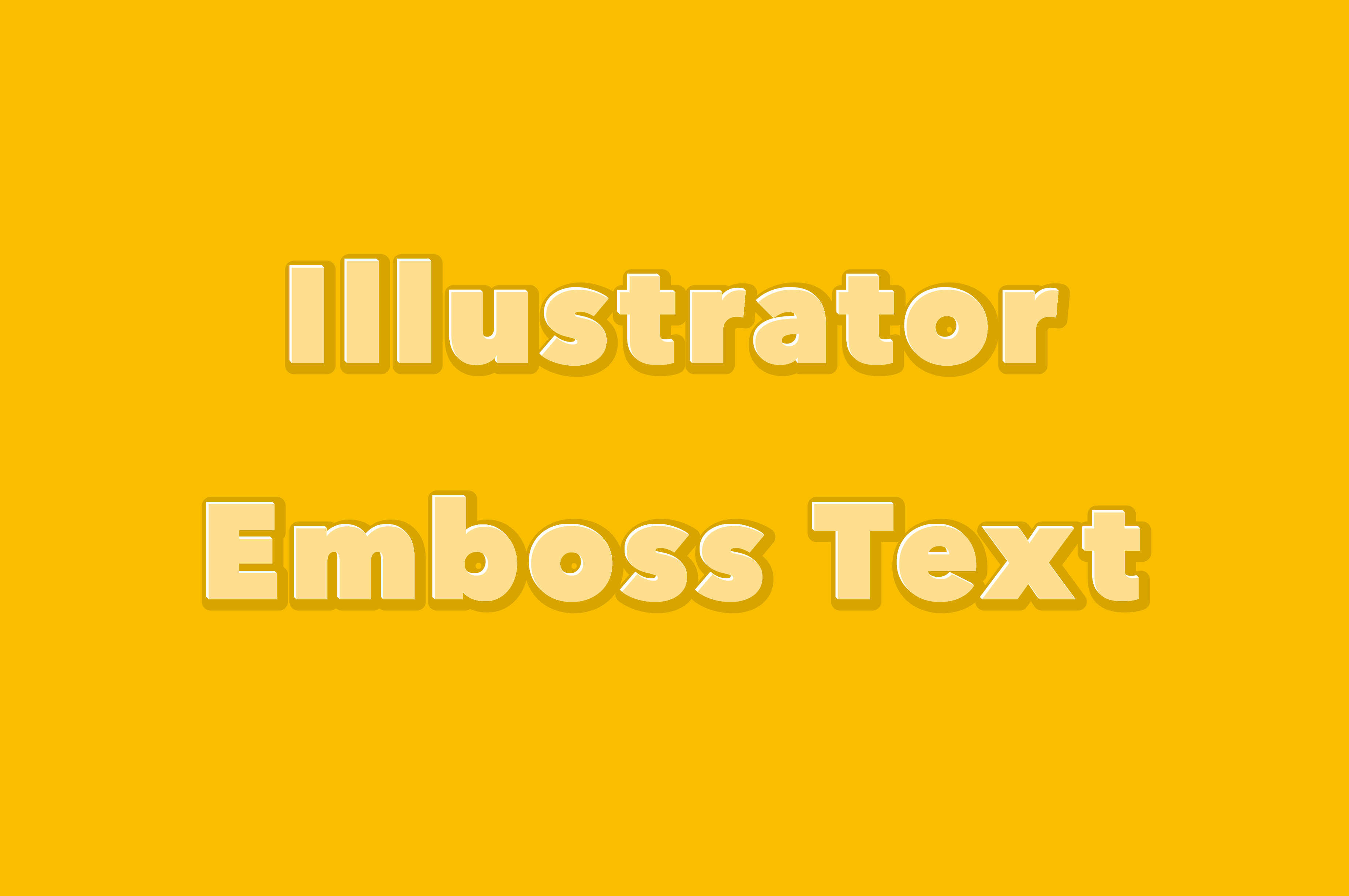 [無料DL素材]Illustrator、テキストにエンボス加工をかけるアピアランス