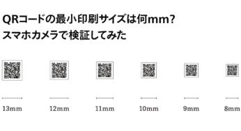QRコードの最小印刷サイズは何mm?スマホカメラで検証してみた
