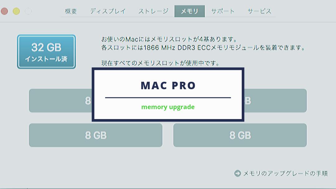 Mac Pro Late 2013、社外メモリを使い32GBに増設!